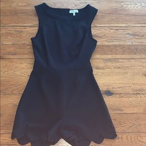 Monteau Black Romper Medium